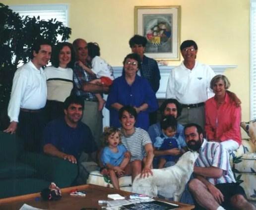 Gibson family at Rachel's house