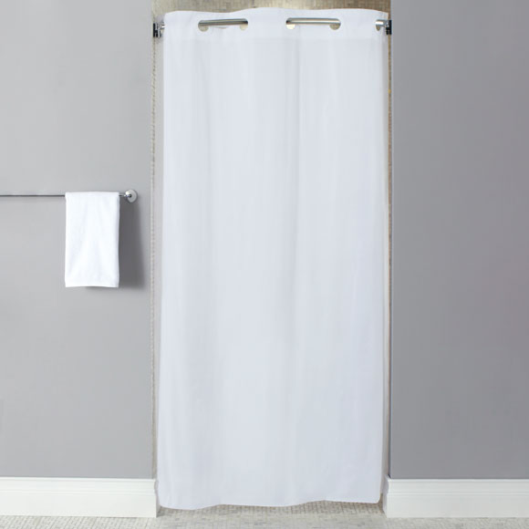 lodgmate pre hooked vinyl stall size 42 x74 shower curtain