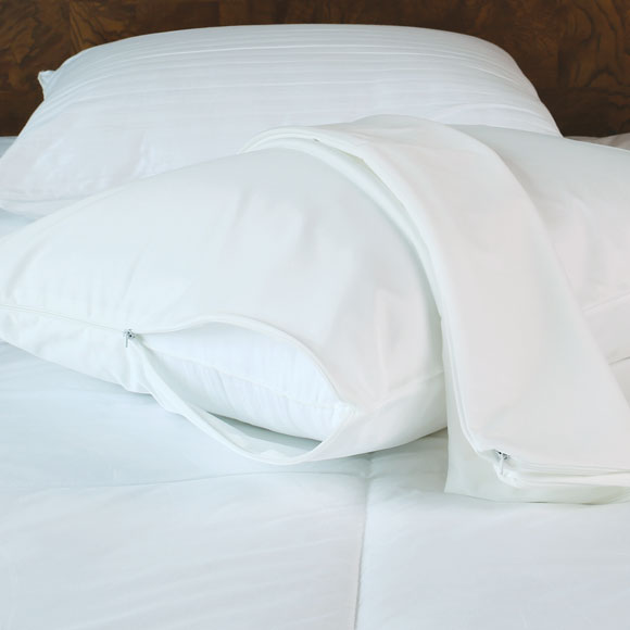 lodgmate stretch polyester zippered pillow protectors
