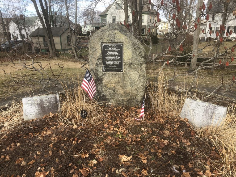 natick praying indian burial ground downtown natick