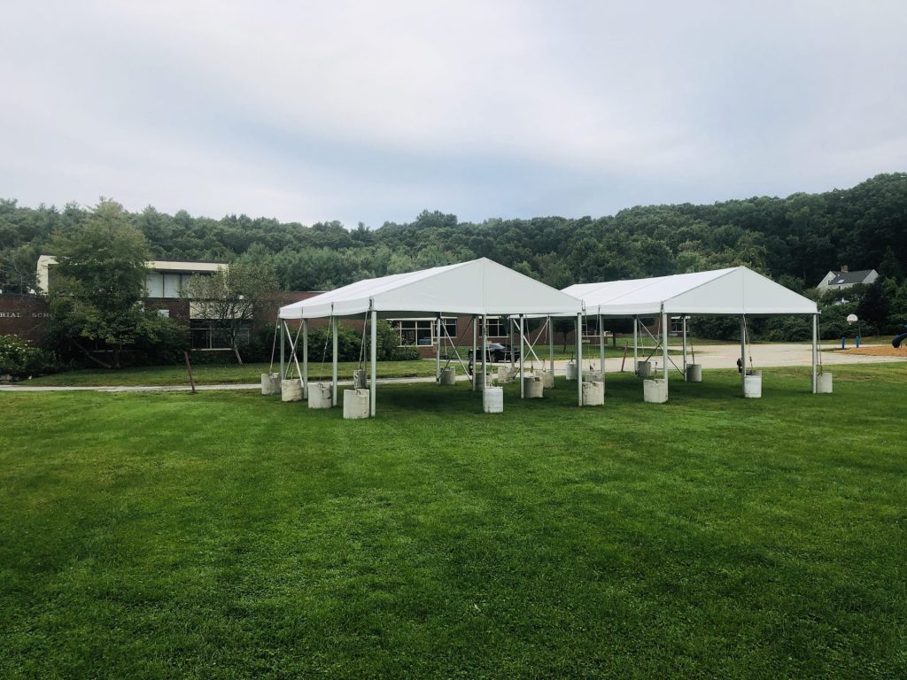 Memorial Elementary School tents covid