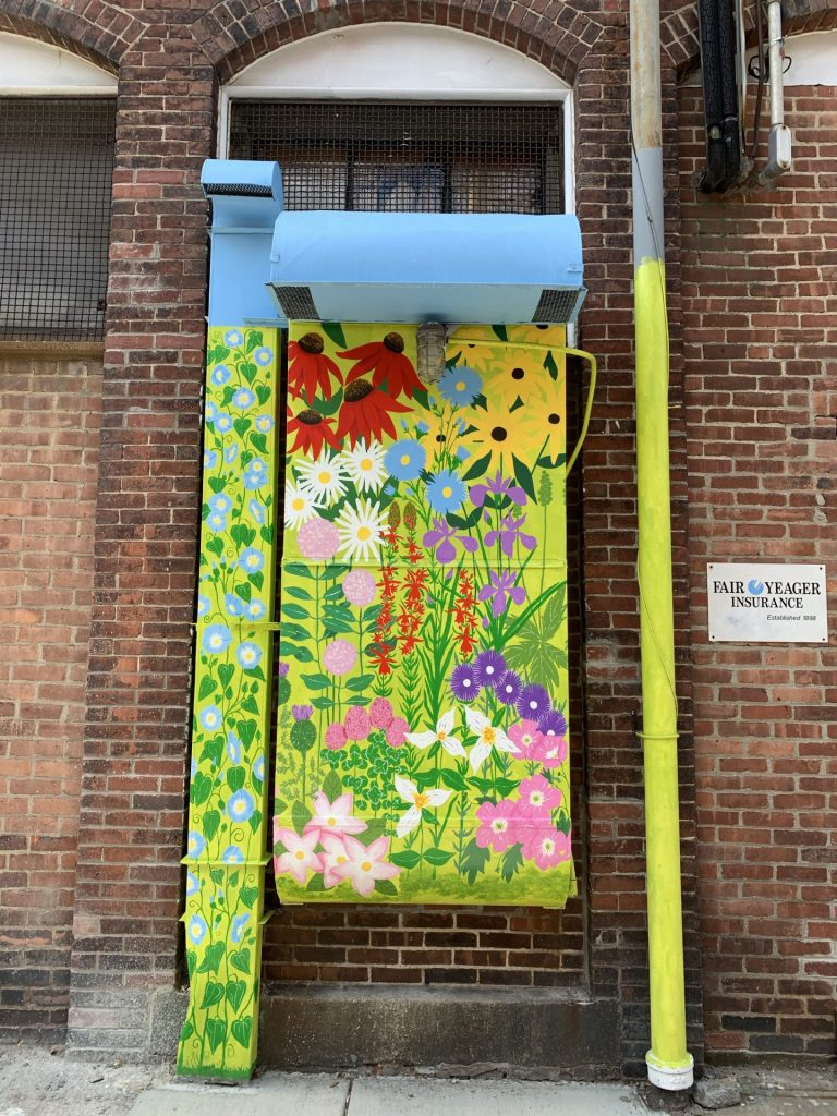 adams st alley art garden