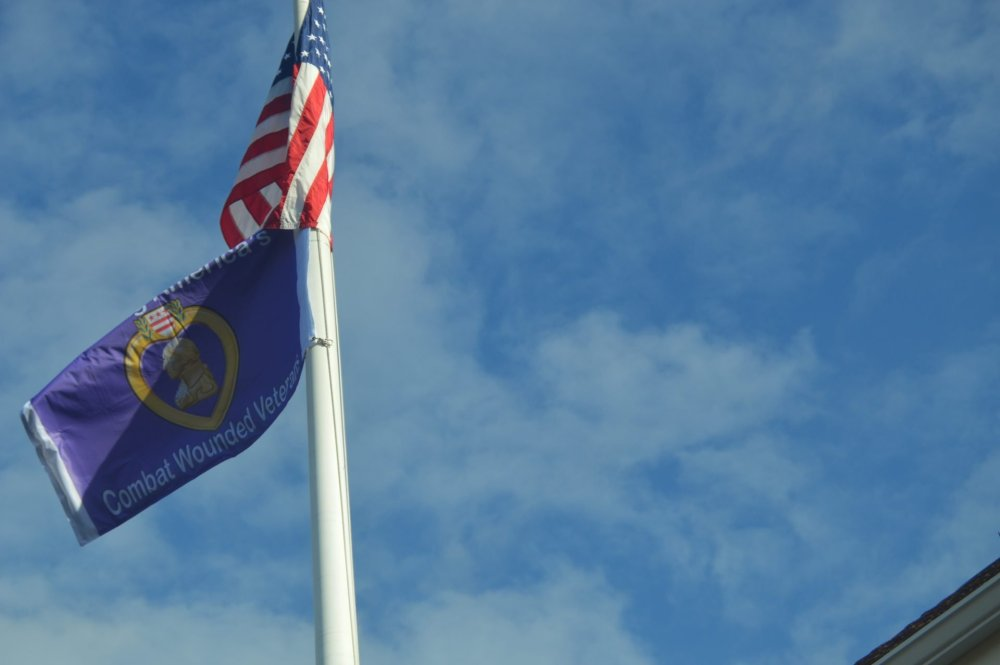 2020 purple heart flag vets