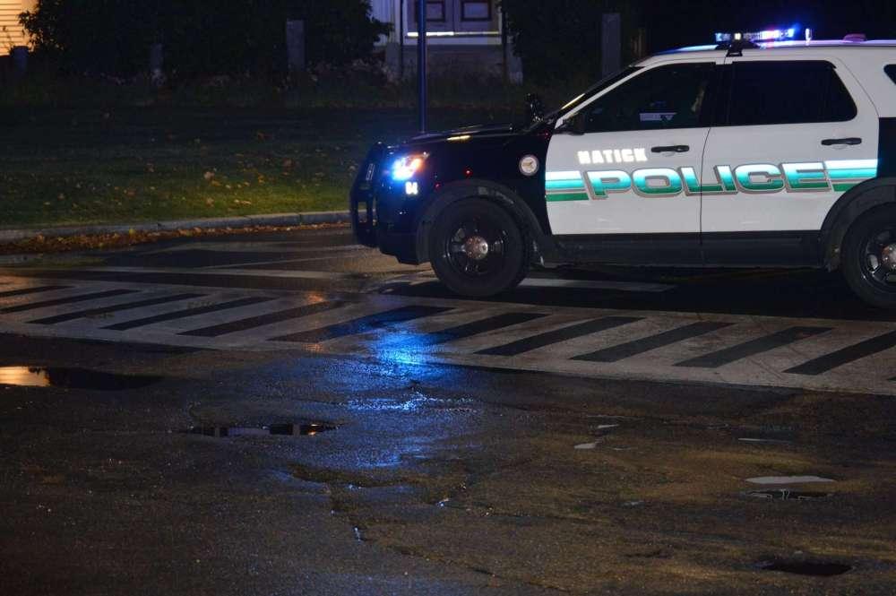 police car south natick main break