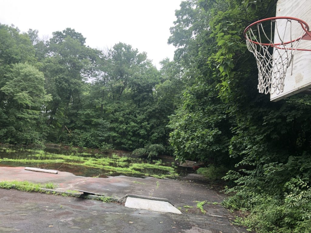 flooded basketball court pleasant st