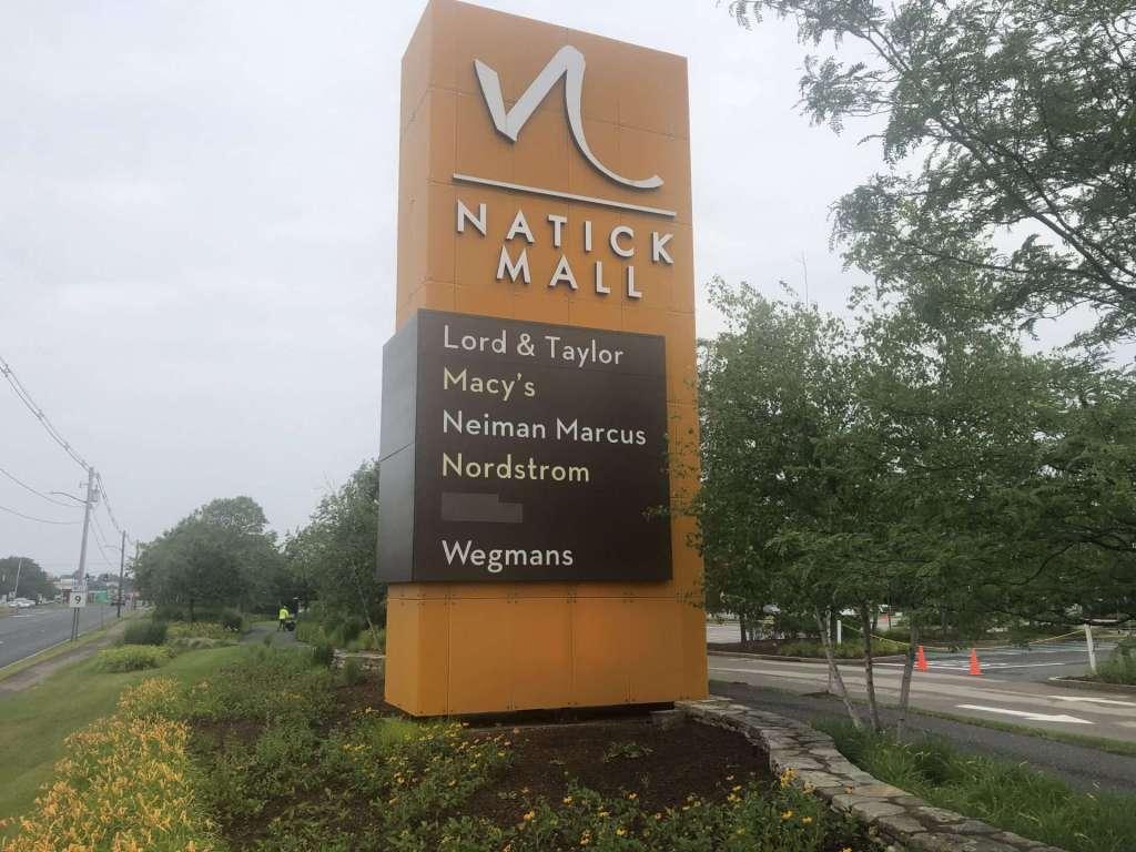 natick mall rte 9 sign