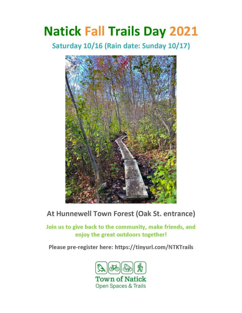 Natick Fall Trails Day 2021 Flyer