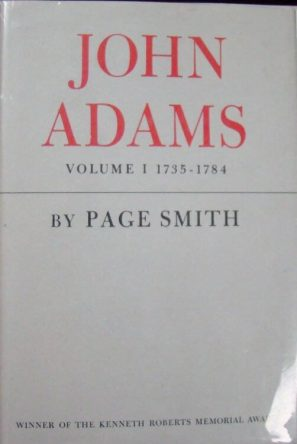 John Adams by Page Smith book cover