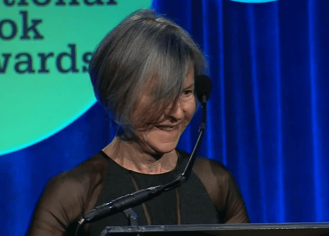 Louise Glück accepts the 2014 National Book Award in Poetry for Faithful and Virtuous Night