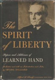 The Spirit of Liberty by Learned Hand book cover