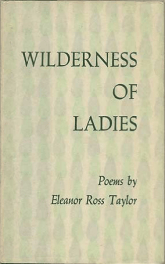 Wilderness of Ladies by Eleanor Ross Taylor book cover