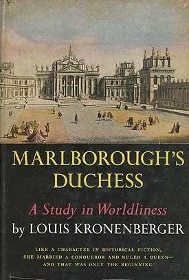 cover of Marlborough's Duchess by Louis Kronenberger