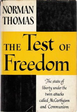 first edition cover of The Test of Freedom by Norman Thomas