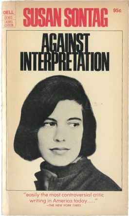 Against Interpretation by susan sontag book cover