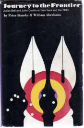 Journey to the Frontier by Peter Stansky and William Abrahams book cover