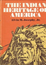 The Indian Heritage of America by Alvin M. Jospehy Jr book cover