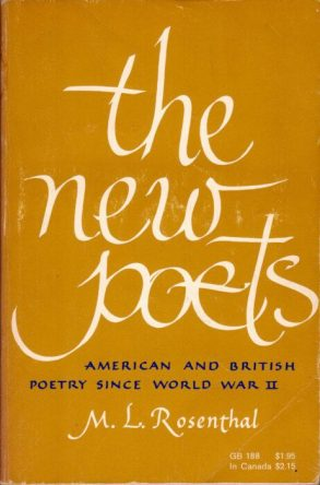 The New Poets by m l rosenthal book cover