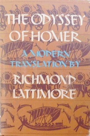 The Odyssey of Homer by Richmond Lattimore book cover