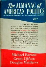 cover of The Almanac of American Politics 1972 by Michael Barone Grant Ujifusa Douglas Matthews