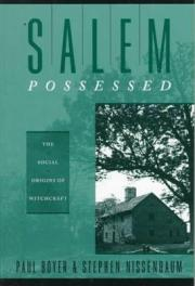 cover of Salem Possessed by Paul Boyer and Stephen Nissenbaum
