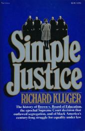 cover of Simple Justice by Richard Kluger