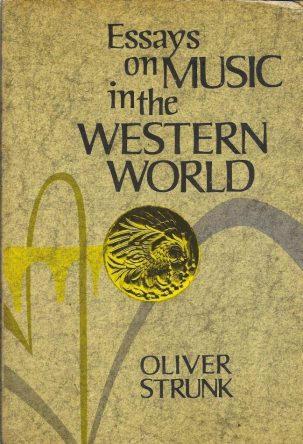 cover Essays on Music in the Western World by W. Oliver Strunk