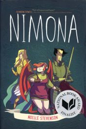 Nimona by Noelle Stevenson book cover, 2015