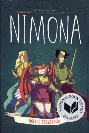 Nimona by Noelle Stevenson book cover, 2015