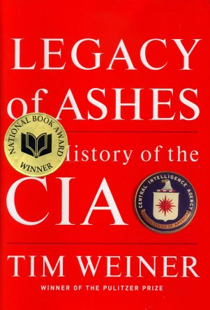 Legacy of Ashes by Tim Weiner book cover, 2007