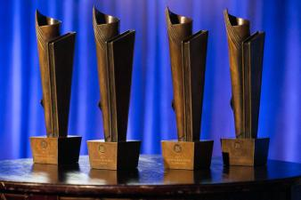 The 2017 National Book Awards Statues