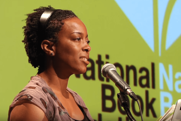 Yona Harvey reads for Ta-Nehisi Coates at the 2015 National Book Awards Finalists Reading