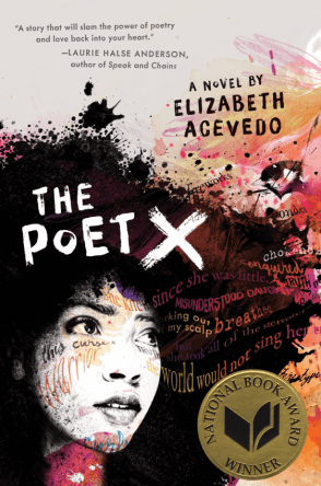 Book cover: The Poet X by Elizabeth Acevedo
