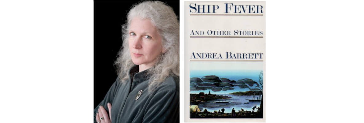 Andrea Barrett accepts the 1996 National Book Award in Fiction for <em>Ship Fever and Other Stories</em>