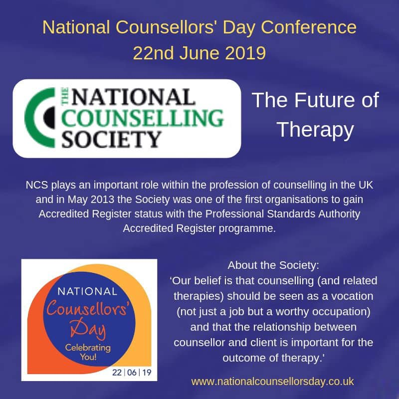 The National Counselling Society at National Counsellors' Day 2019