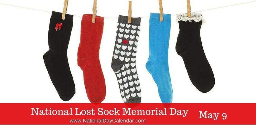 National Lost Sock Memorial Day May 9