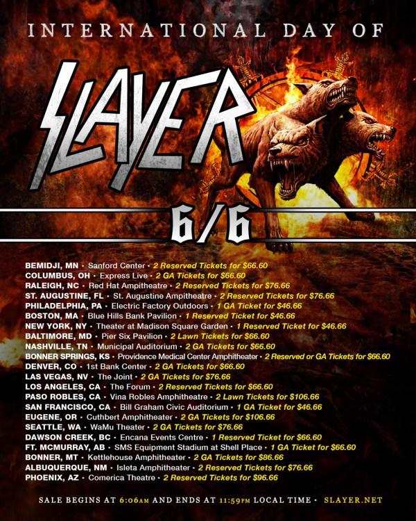 International Day of Slayer News Slayer Announces Tour