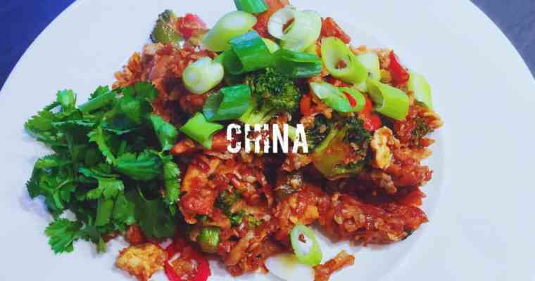 Chinese Chicken Fried Cauliflower Rice | 鸡炒饭 | What is the national dish of China?