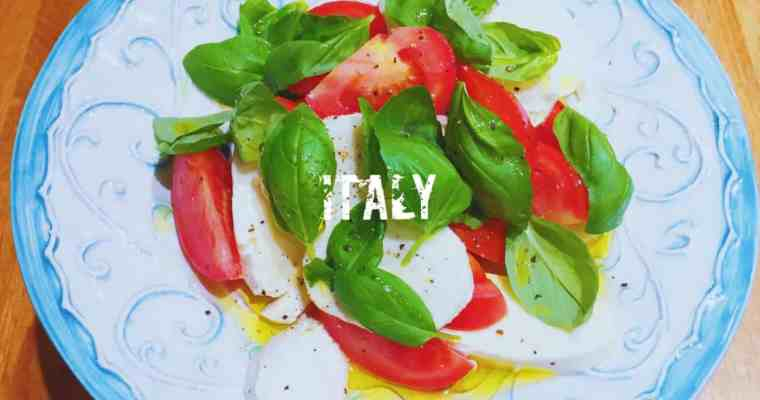 Italian tomato, mozzarella and basil salad | Insalata Caprese | What is the national dish of Italy?