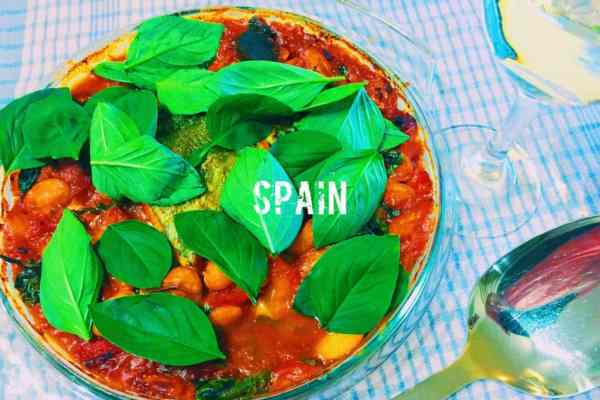 Spanish chorizo, cod, tomato and butter bean one pot what is the national dish of Spain?