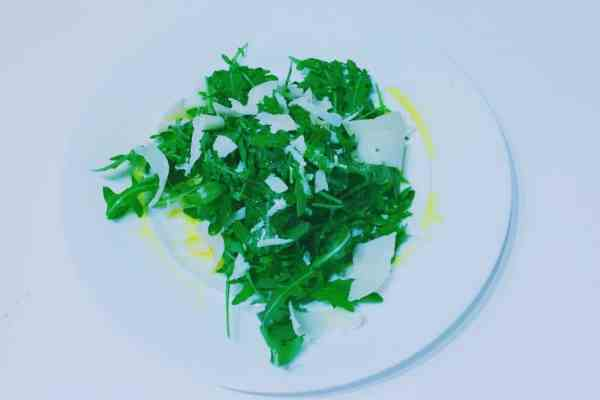 Rocket and parmesan salad so easy and yummy national dish Italy