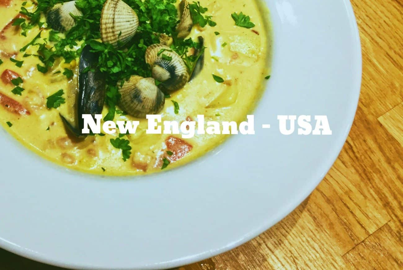 Mixed fish and seafood chowder recipe based on new england usa national dish of new england usa mixed fish and clam chowder national dish of new england usa mixed fish and clam chowder forumfinder Images