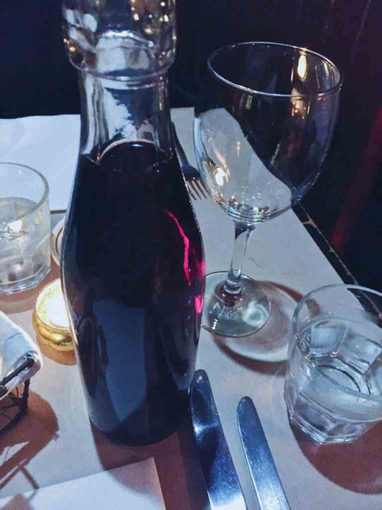 House wine by the cute carafe is handy at Petit Coco Cheltenham
