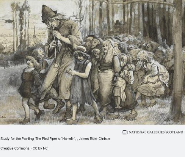James Elder Christie Study For The Painting The Pied Piper Of Hamelin