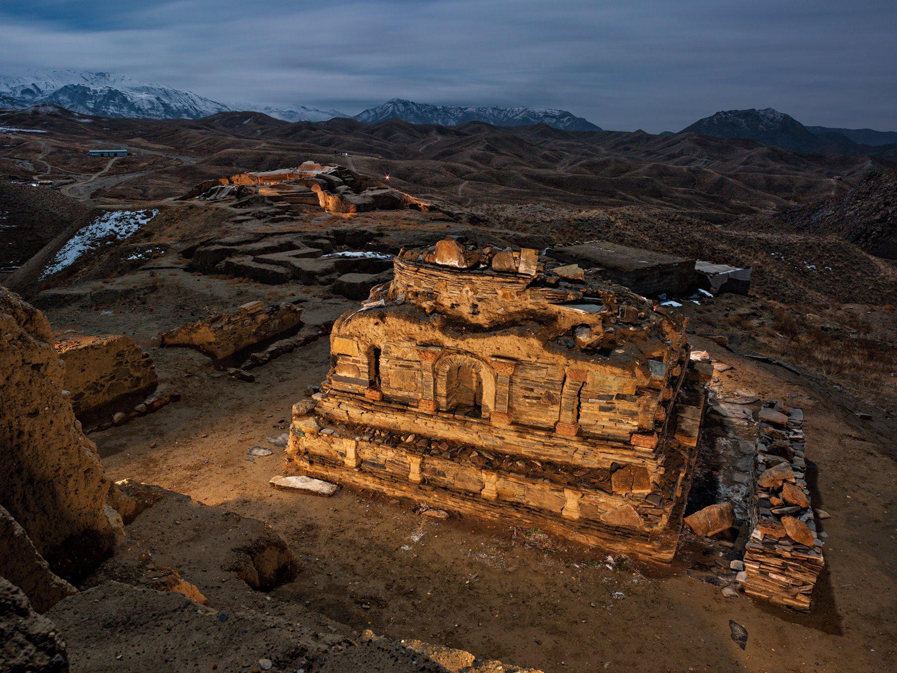 Santuario de piedra de Mes Aynak, en Afganistán