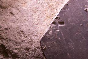 Losa de mármol rota