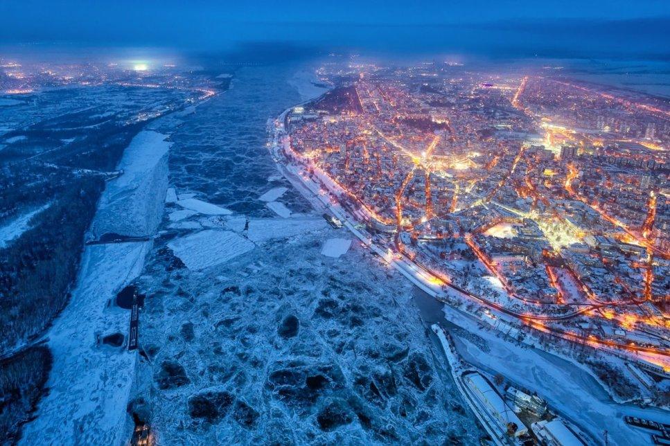 """""""Cold Winter Night"""". """"Cold Winter Night"""" (Fría Noche de Invierno)"""