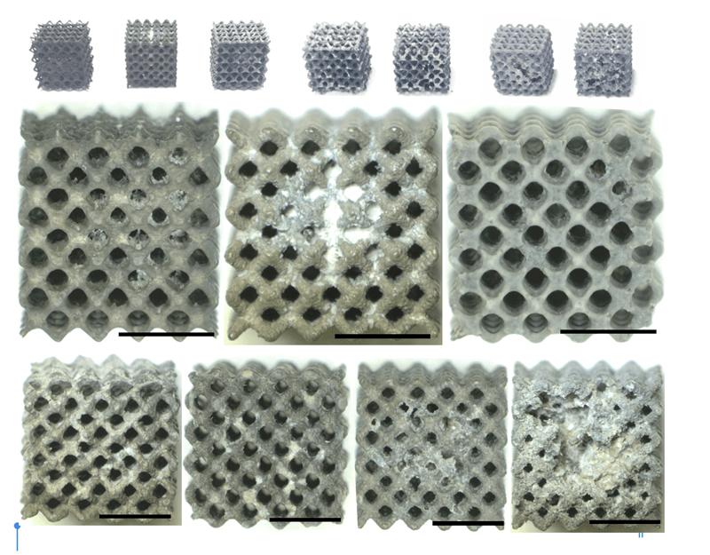 Pruebas de resistencia del polímero