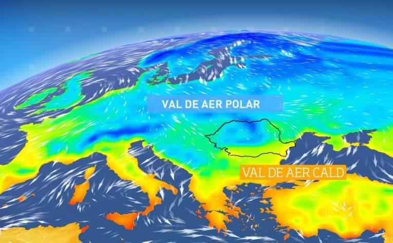 ALERTA ANM Val de AER POLAR peste România. De miercuri, se răceşte dramatic în toată ţara