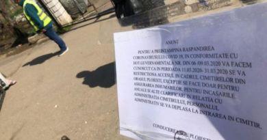 """Orașul din Romania în care cimitirele au intrat în carantină. """"Nu ne pleacă mortul nicăieri"""""""