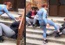 Copilă de 14 ani pusă să ceară scuze în genunchi, lovită cu pumnii şi umilită în faţa unui grup de băieţi / VIDEO SCANDALOS